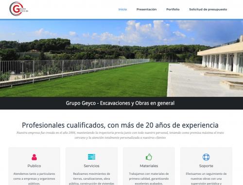 WEb de obras y Excavaciones web autónomos de https://clicaweb.com