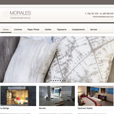 WEb de decoraciónd de interiores web autónomos de https://clicaweb.com